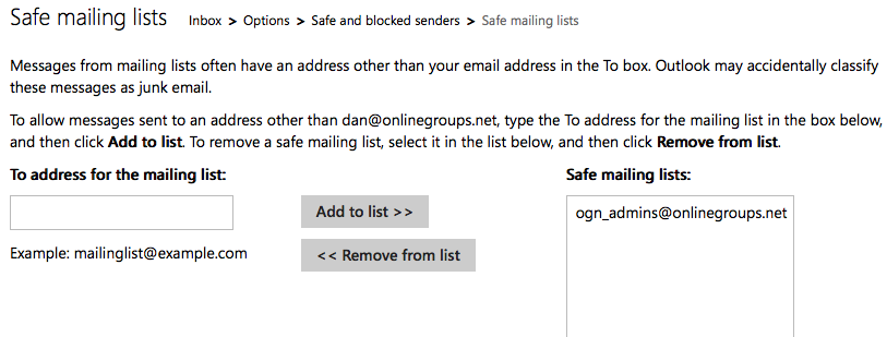 How to whitelist an email address with Gmail, Outlook com or Yahoo!