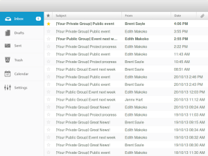 An email inbox, with the Subject and From email headers
